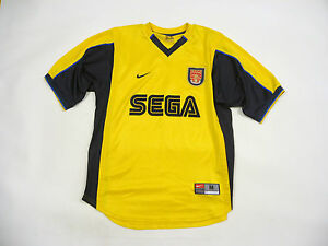 best sneakers 4c1ea 50b8e Details about * Arsenal 1999 / 2001 Away Kit Football Jersey Shirt