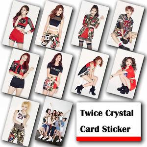 10Pcs-Set-Kpop-TWICE-HD-Waterproof-Lustre-Photo-card-Crystal-Card-Sticker