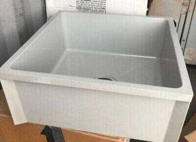 Proflo Pfz199624 24 X 24 X 10 Floor Mounted Mop Service Sink With Drain 781889045602 Ebay