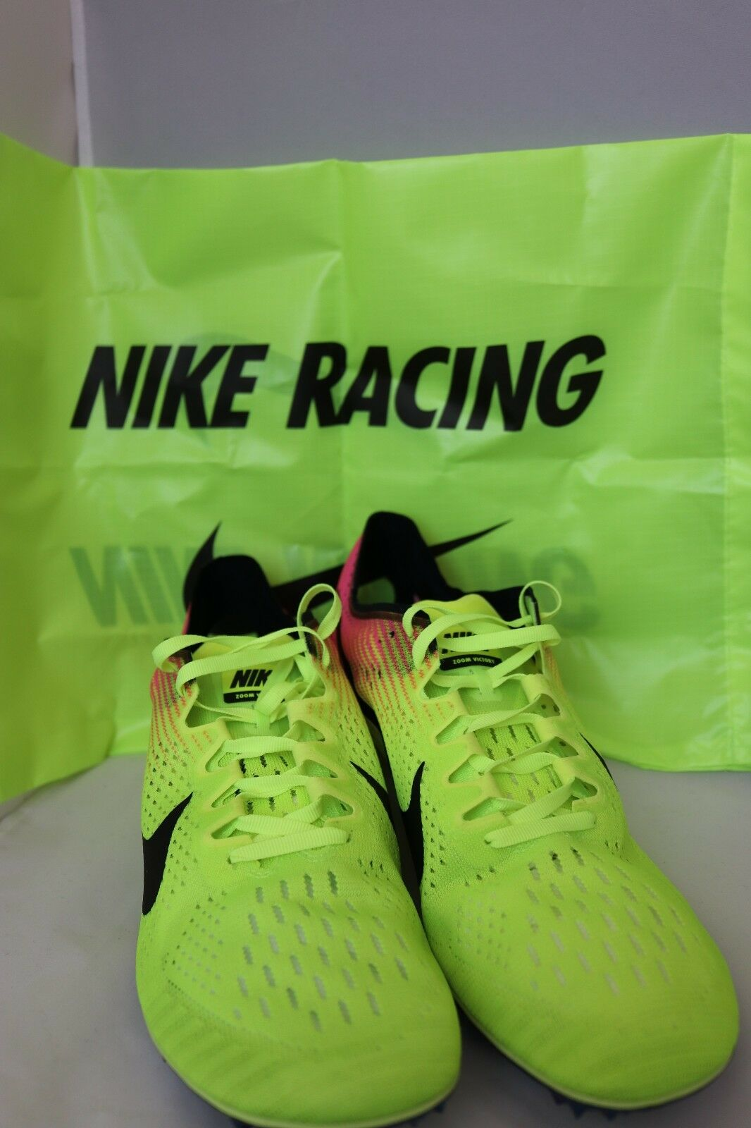 New Nike Zoom Victory 3 Running Track Rio OC 835997-999 Men's Size 12 W Spikes