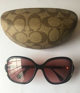 "79474a611f18 COACH ""SIENNA"" DESIGNER Sunglasses S612 Black"