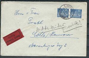 Berlin magnifique COURSIER LETTRE à Partir De Berlin-Zehlendorf 30.8.1958 après celle-orf 30.8.1958 nach Celle afficher le titre d`origine d6qrBN8f-07163457-612051274