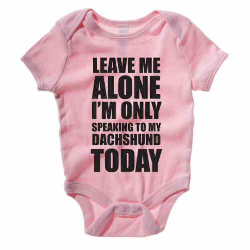 Gift Pet Novelty Themed Baby Grow Fun SPEAKING TO MY DACHSHUND Dog