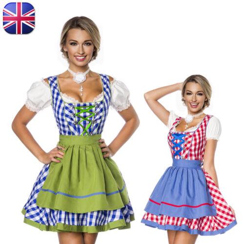 Oktoberfest Costume Ladies Traditional Bavarian Outfit German Beer Girls Dress