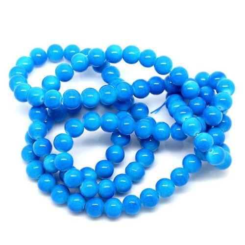 BD276 Fabulous Sky Blue Tones 9mm 20 Glass Beads 9mm
