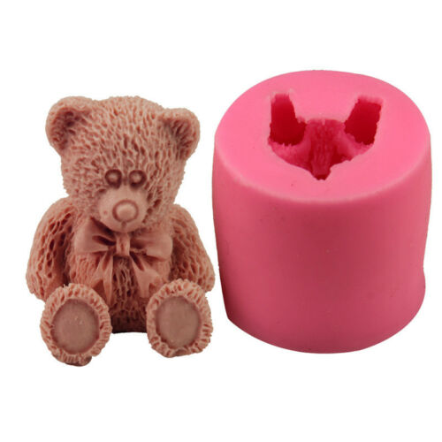 DIY Bear Shape Soap Mould Candle Decorated Mold 3D Cake Silicone Mold