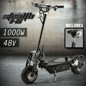 【EXTRA20%OFF】BULLET Stealth 1-6 1000W Electric Scooter 48V - Turbo w/ LED