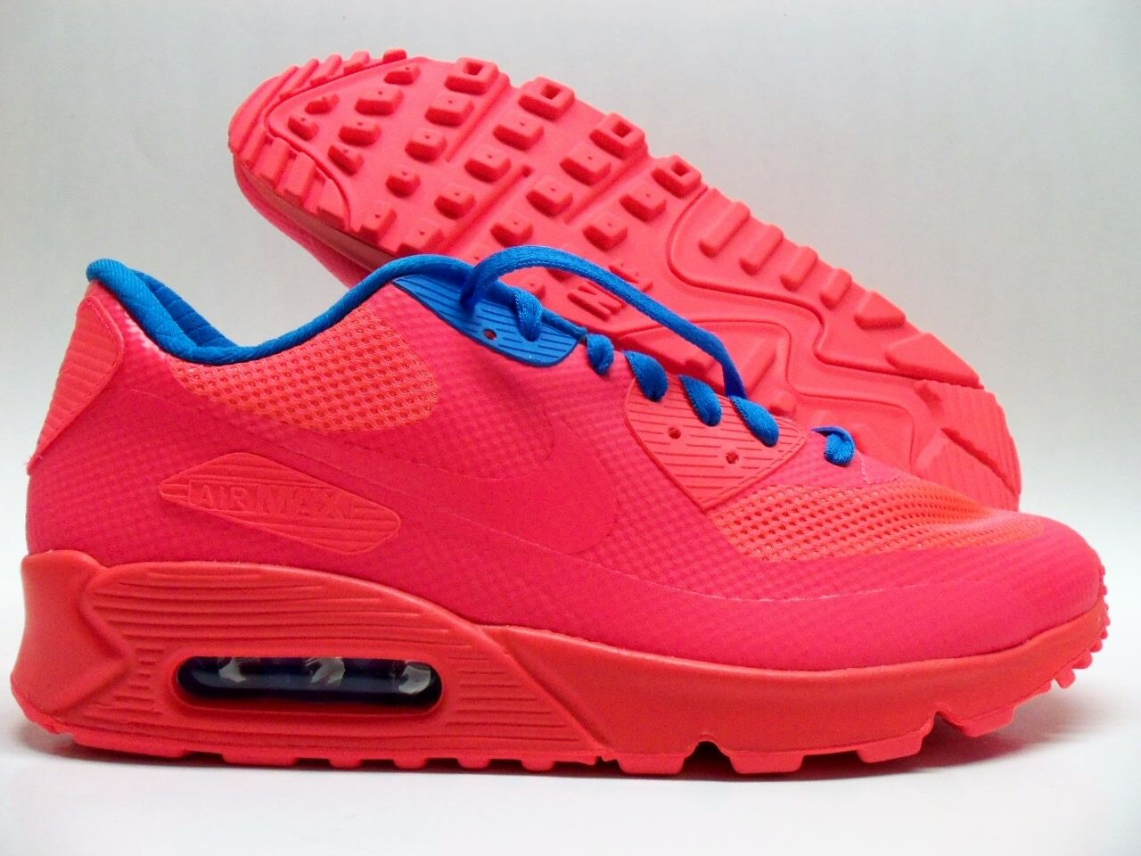 NIKE AIR MAX 90 HYPERFUSE PREMIUM ID SOLAR RED/BLUE SIZE MEN'S 10 Price reduction best-selling model of the brand