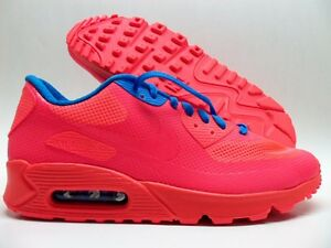 Details about NIKE AIR MAX 90 HYPERFUSE PREMIUM ID SOLAR REDBLUE SIZE MEN'S 10 [653603 993]