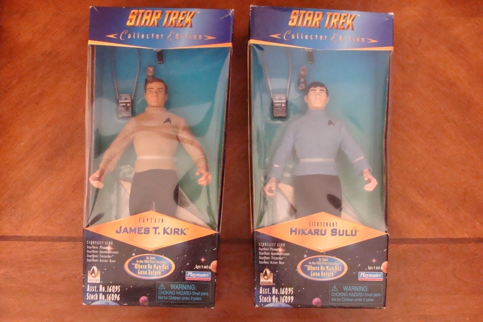 Star Trek Playmates Captain Kirk Hiraku Sulu Collector Series Figures Original 2