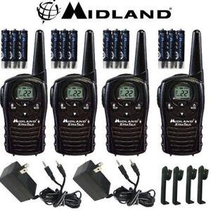 2c69a2119c7 Midland Xtra Talk LXT118VP 4 Pack Set Two Way Radio Walkie Talkie ...