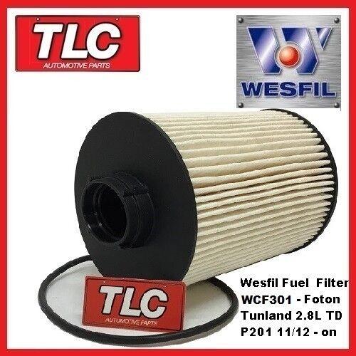 Wesfil Fuel Filter - Foton Tunland 2.8 TD Cummins ISF P201 11/12 - on WCF301