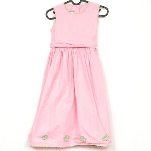 33775c3cd Laura Ashley Girls Dress 9 Years 134 CM Pink Sleeveless Flower Green ...