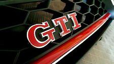 VW Golf 5, 6, 7, Polo GTI Emblem FOLIE ROT GLANZ Schriftzug Aufkleber