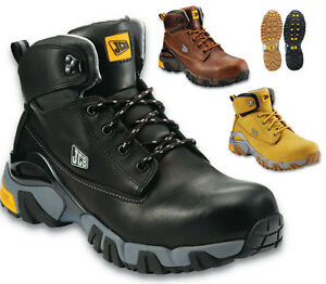5230d64bc88 Details about JCB 4x4 MENS S3 LEATHER SAFETY WATERPROOF WIDE FIT WORK BOOTS  STEEL TOE CAP SIZE