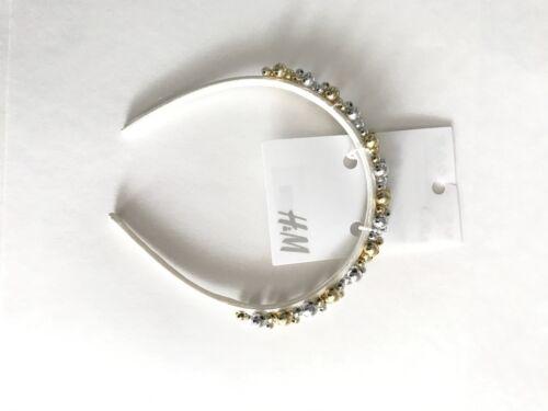 H M Girls Silver Gold Beaded Headband Birthday Princess Formal Dressy