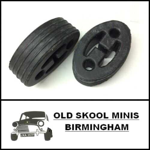 CLASSIC MINI EXHAUST RUBBER MOUNTING 1990/> PAIR DBP7104 REAR HANGER STRAP x2 3N7