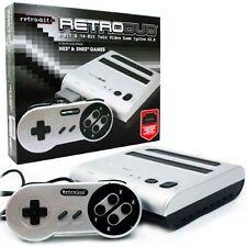 Retro-Bit Retro Duo Twin Video Game System, Silver/Black New