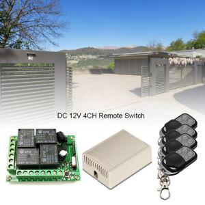433Mhz-Funk-Empfaenger-Relais-Schalter-Garagentor-mit-4X-Fernbedienung-220V-DHL