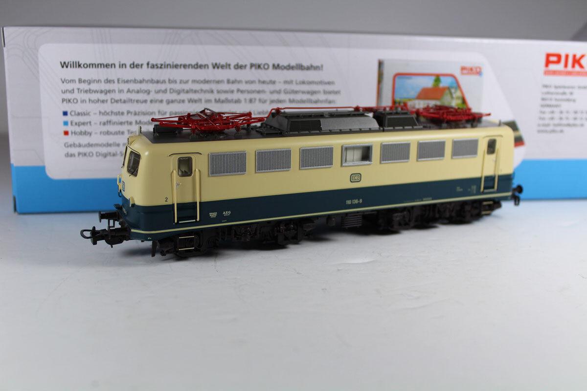 PIKO 51737 E-Lok BR 110 136-9 AC Digital DB Epoca IV, nuovi.