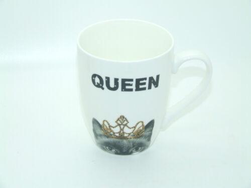 WHITE CAT DOG MUG PRINCESS PRINCE KING OR PRINCE COFFEE TEA MUG
