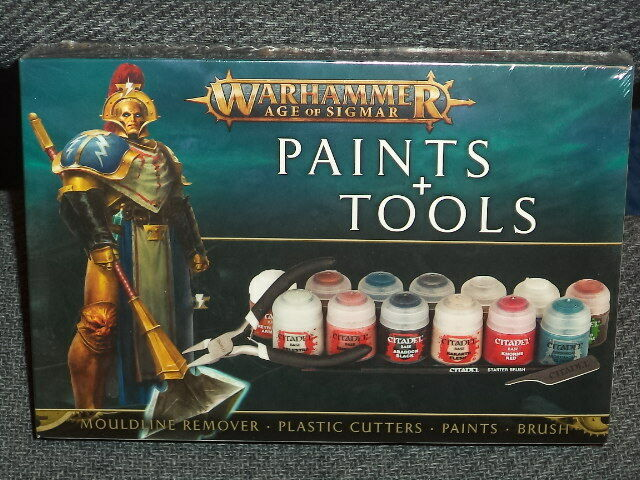 Paints & Tools Set Warhammer Age of Sigmar Workshop Model Nuovo