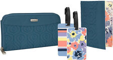 Travelon Bags RFID Wallet, Passport Case and Luggage Tag Set - Blue