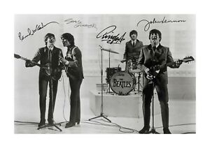 The-Beatles-4-A4-signed-photograph-poster-with-choice-of-frame