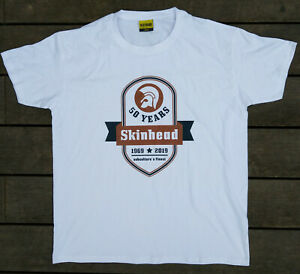 50-years-subculture-039-s-1969-2019-finest-Skinhead-T-Shirt-weiss-Gr-S-XXL