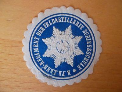 Siegelmarke Lehr.regt 15538 Kön Schiesschule Der Feldartill Pr Kompetent