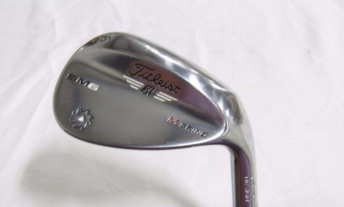 Usado RH Titleist  SM6 (Cromo) 56  cuña de arena M-Grind 56.08 Cuña de Acero Flex SM-6  A la venta con descuento del 70%.