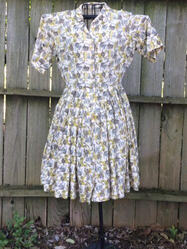 vintage button down dress With Kitchen Utensils Pa