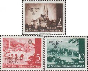 Kroatien-78-80-kompl-Ausg-postfrisch-1942-Freimarken