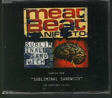 MEAT BEAT MANIFESTO Subliminal Sandwich 7 TRACK SAMPLER CD PLAY IT AGAIN SAM
