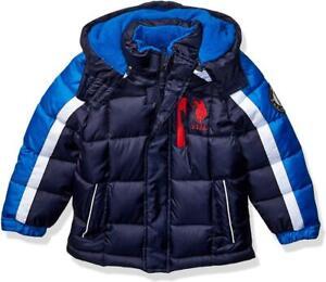 U.S. Polo Assn. Big Boys Navy Blue Bubble Jacket Size 8 10 ...