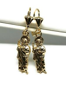 cadecaa9555f Aretes De San Judas Tadeo Oro Laminado Gold Laminated Saint Jude ...