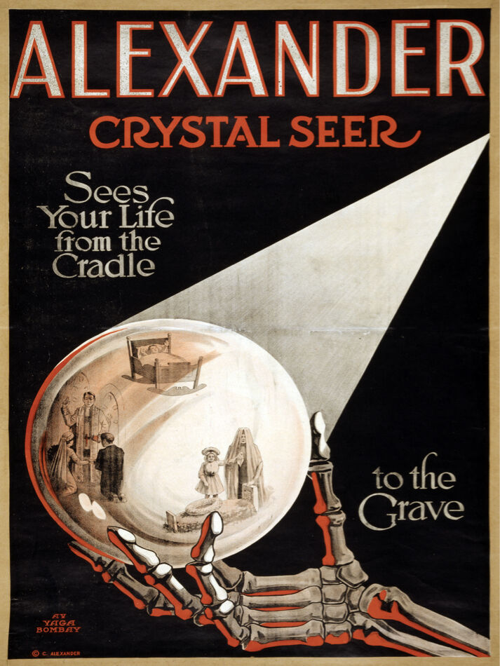 5851.Alexander Crystal Seer Magic show POSTER.Interior design. Decoration Art