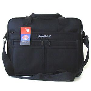 New-Black-Briefcase-Shoulder-Messenger-Bag-Book-Bag