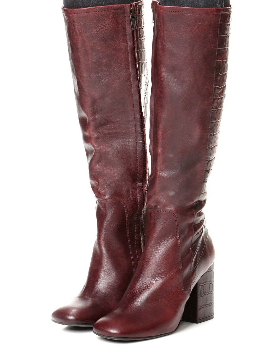 Free People Women's High High High Ground Leather Side Zip Tall Boot Retail  328 size 8 3e935e