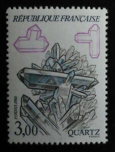 TIMBRE poste. FRANCE. N°2430; neuf minéraux; année 1986