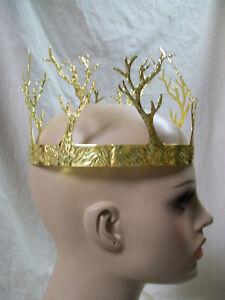 Gold Tree Branch Crown Antler Coral Renaissance Medieval Evil King Queen Forest
