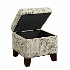 Outstanding Dorel Living Hastings Tufted Ottoman With Nailheads Beige Machost Co Dining Chair Design Ideas Machostcouk