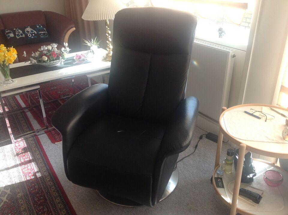 Læderlænestol, læder, Nypris kr. 7000