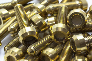 10x-Titanium-Gold-Bolts-for-BBS-Split-Rim-Wheels-M7-x-24mm-for-RX2-RS2