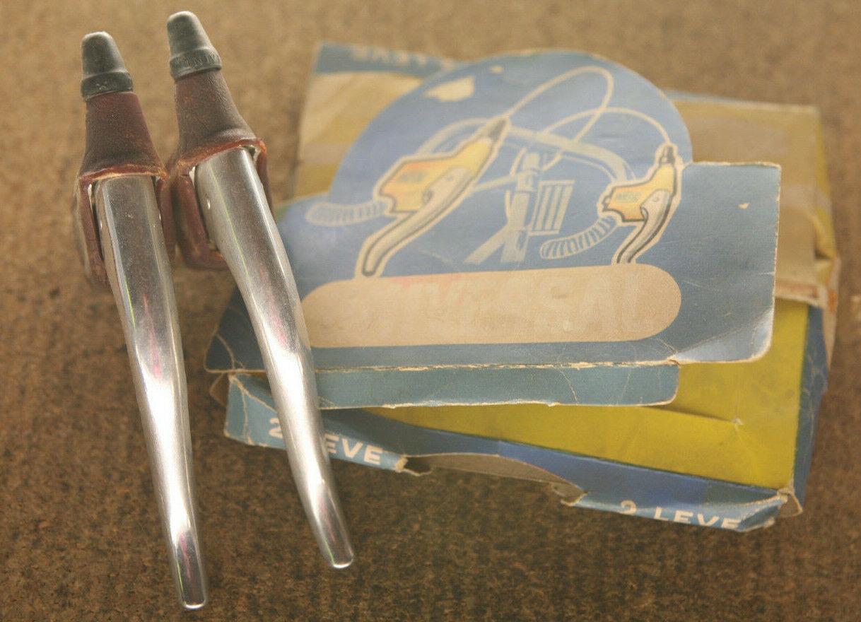 De colección  Reedición Nuevo En Caja Italiano Universal Modelo 61 Palancas de Freno Frenos Conjunto De Palanca