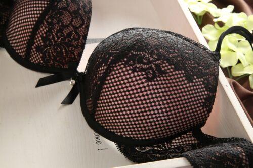 Womens Lingerie Lace Floral Bra And Panty Set Women Underwear Set Rhinestone BH