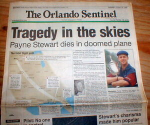 Image result for golfer payne stewart died in learjet crash