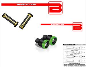 BARRACUDA-PUNOS-ORO-CONTRAPESOS-B-LUX-VERDE-para-KAWASAKI-NINJA-650
