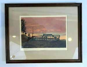 """John MOSIMAN """"Abandoned"""" Signed Numbered Listed Artist Framed and Matted 93/200"""