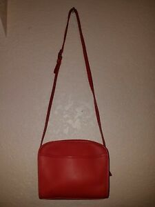 Image Is Loading Red Coach Metropolis Leather Crossbody Shoulder Bag 9087